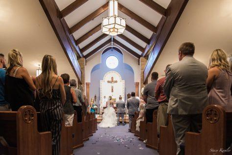 Ceremony at Holy spirit Catholic church in North Platte, NE