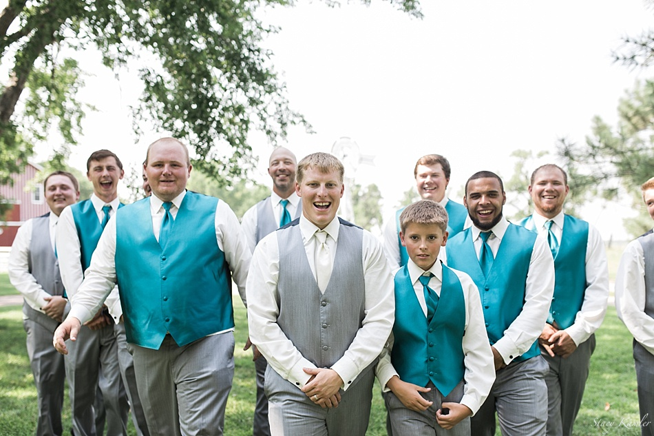 Groomsmen Photos at Scout Rest Ranch in North Platte, NE