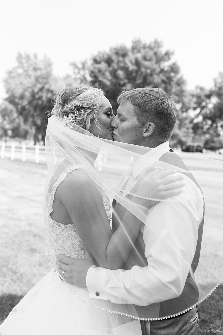 Bride and Groom Photos with veil