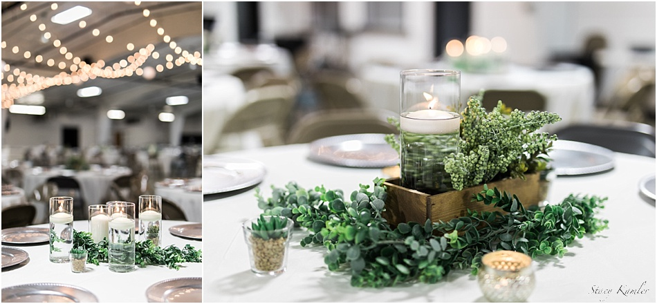 Greenery and Candles Table Decor
