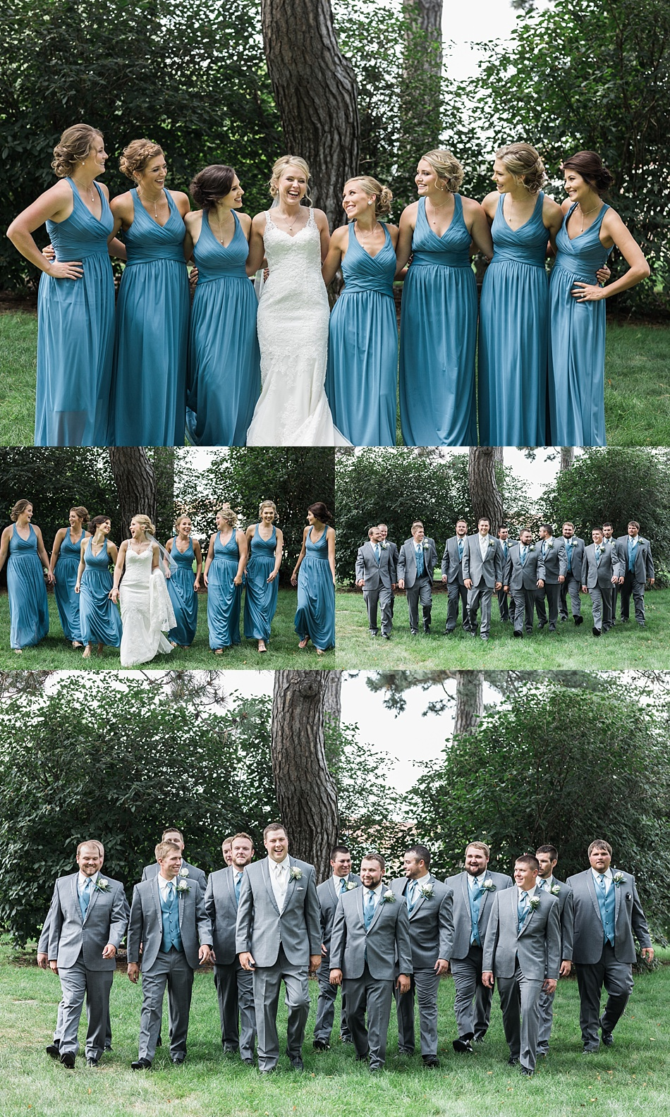 Large Bridal party Photos