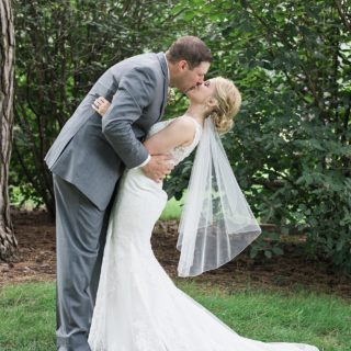 Bride wearing Stella York Wedding Dress