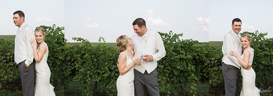 Nebraska Bride and Groom at Lazy Horse Brewery