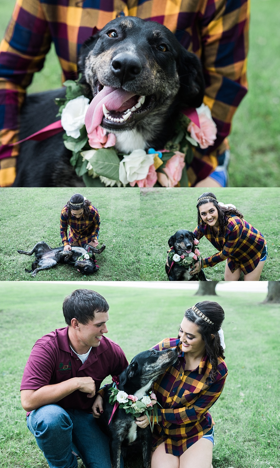 Bride and Groom photos with their puppy