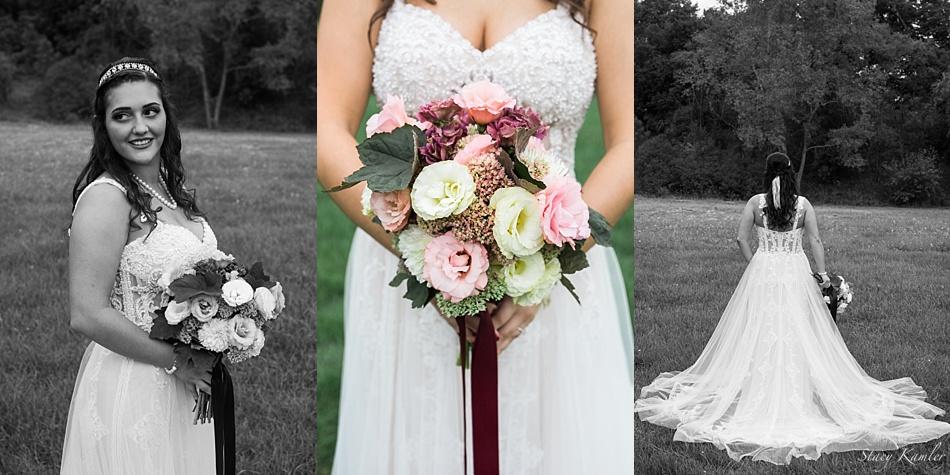 Bride in her Allure Dress