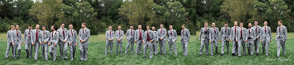 Groom and Groomsmen in Grey suits