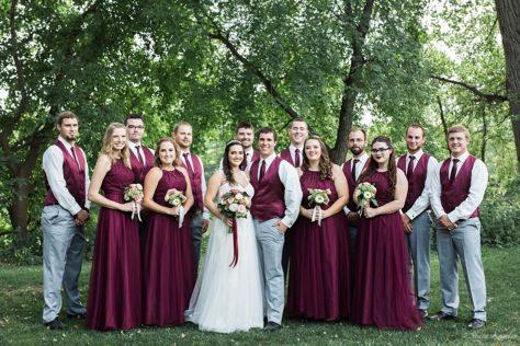 Bridal Party Photos at Riverwest Park, Elkhart, NE