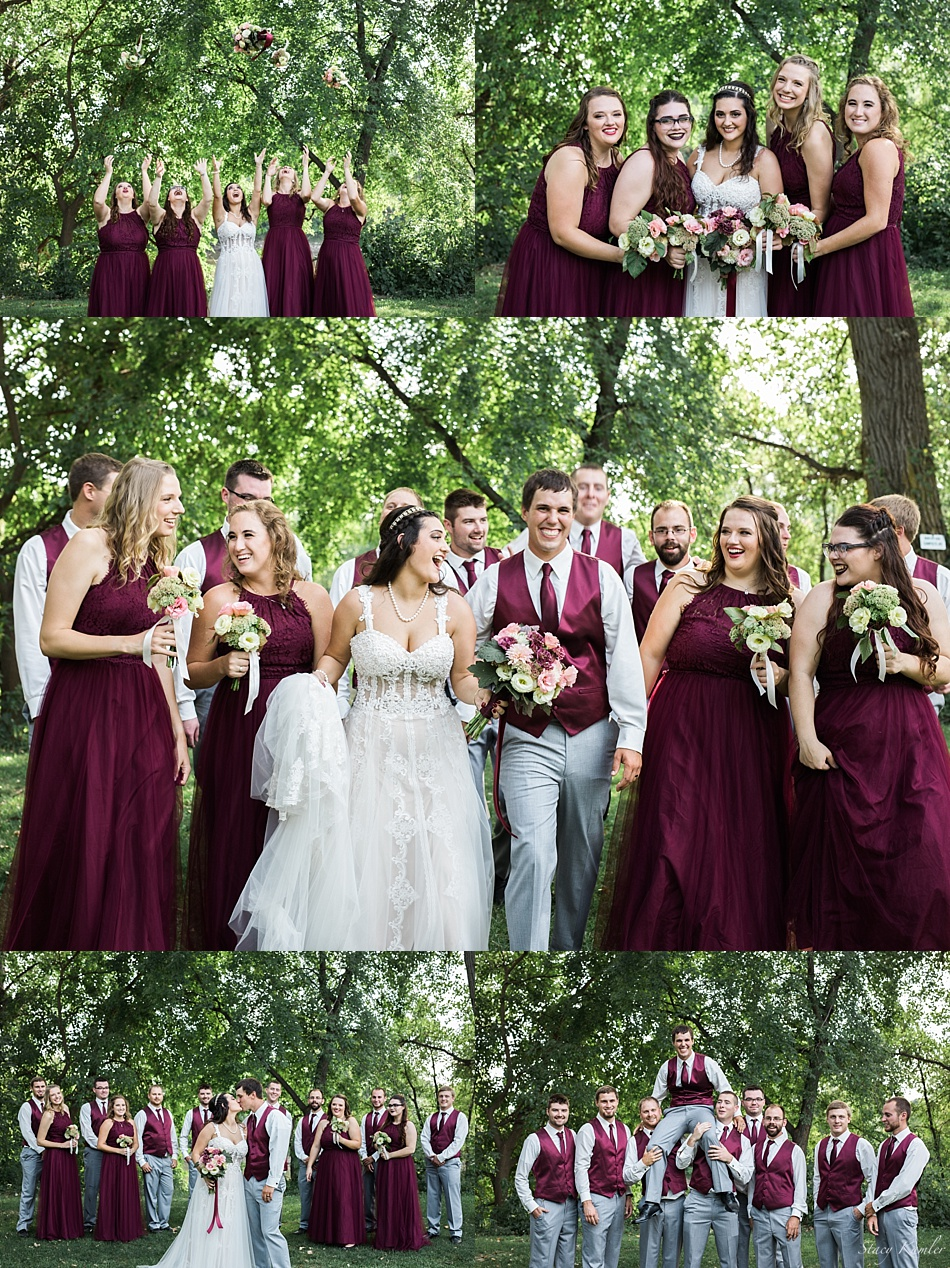 Bridal Party Photos at Riverwest Park, Elkhart, NE