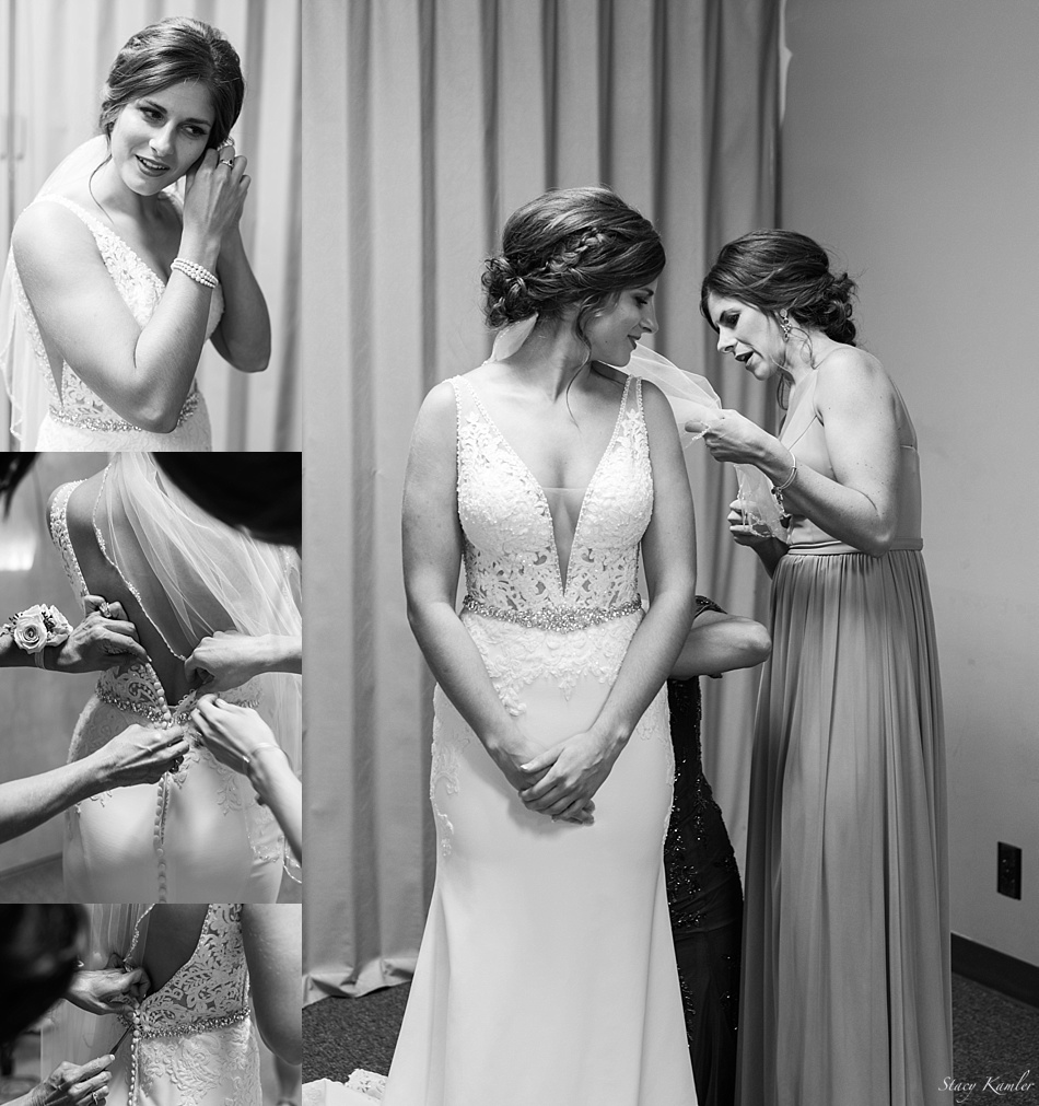 Bride getting ready in Bertrand, NE