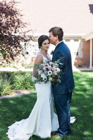 Bride and Groom Full Length Portrait