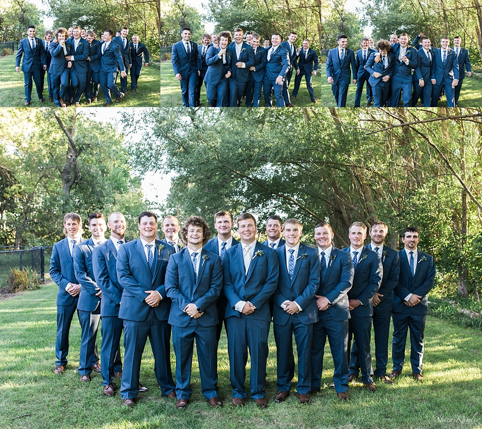 Groomsmen Photos in Blue Suits