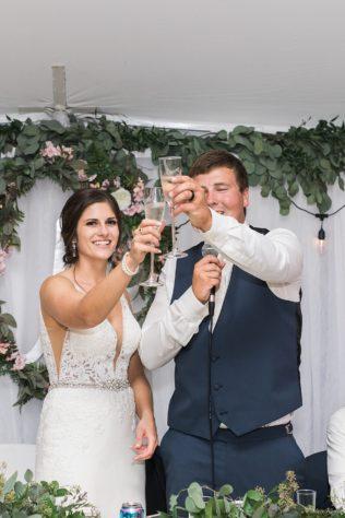 Toasts at a Nebraska Wedding