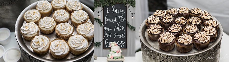 Cupcakes for backyard reception