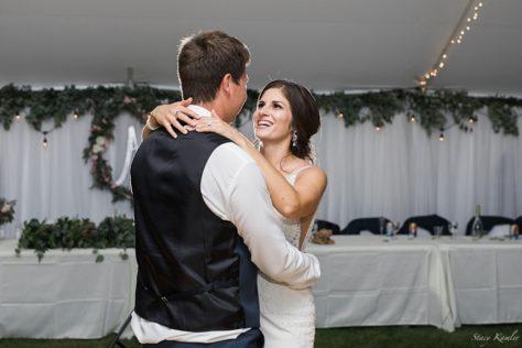 First Dance at Backyard Wedding in Lexington, NE