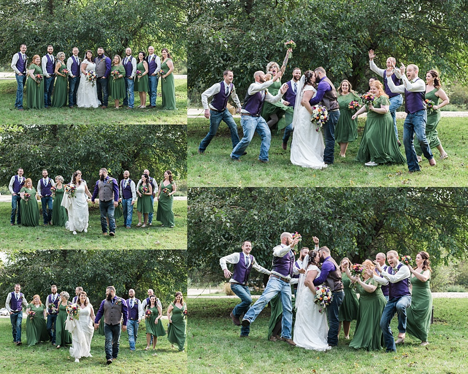 Bridal Party Photos at Gunsmoke Lodge in Brainaird, NE