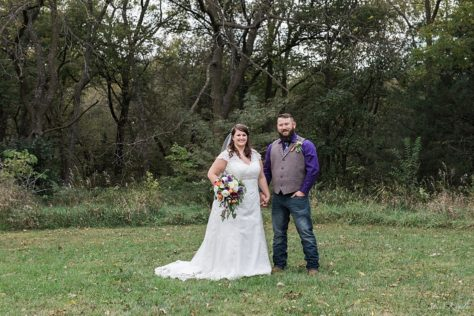 Bride and Groom portraits in Nebraska