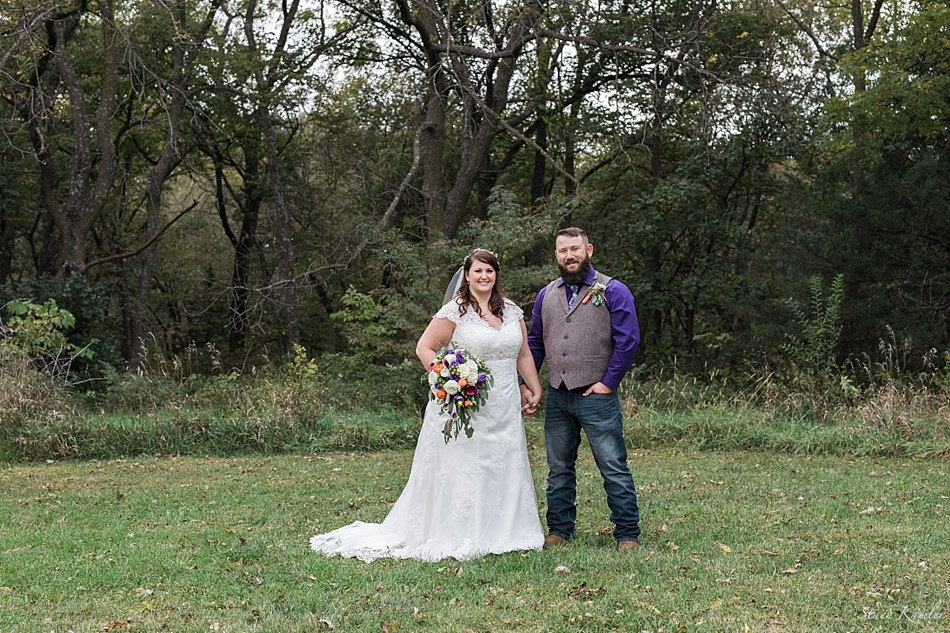 Bride and Groom portraits in Nebraska