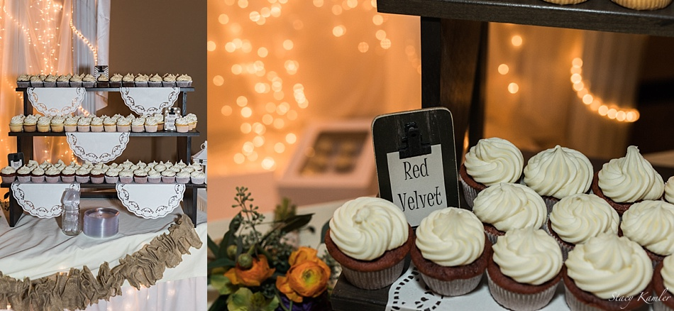Red Velvet Cupcakes at a wedding in Lincoln, NE