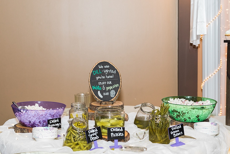 Dill Pickel bar at wedding in Lincoln, NE