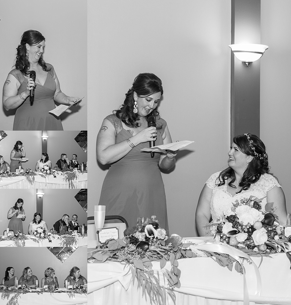 Toasts at a nebraska wedding