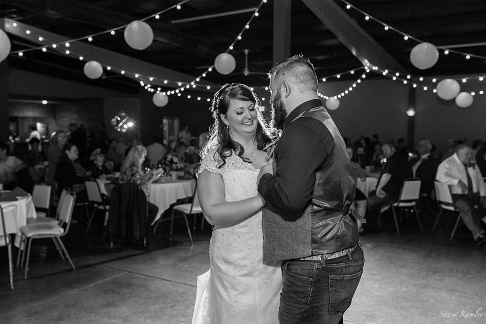 Bride and Groom first dance at the Havelock Social Hall in Lincoln, NE
