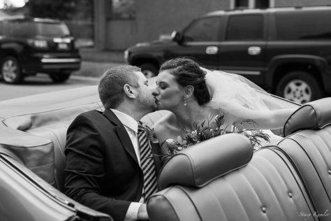 Drive away car at wedding