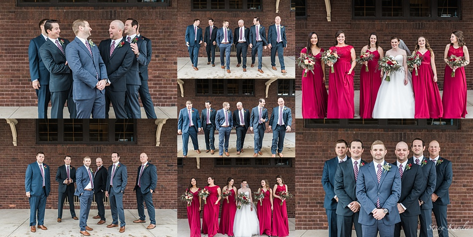Bridal Party photos in downtown Grand Island