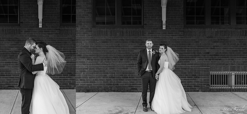 Bride and Groom Portraits in Downtown Grand Island