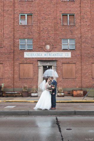 Rainy wedding day portraits