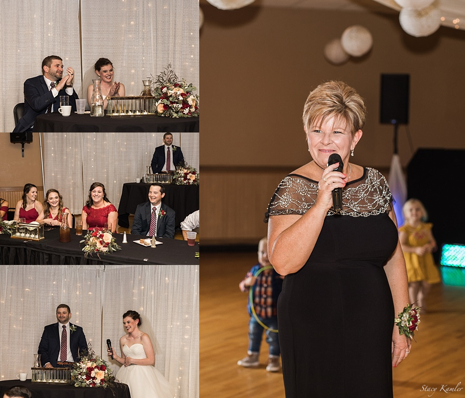 Toasts for wedding reception