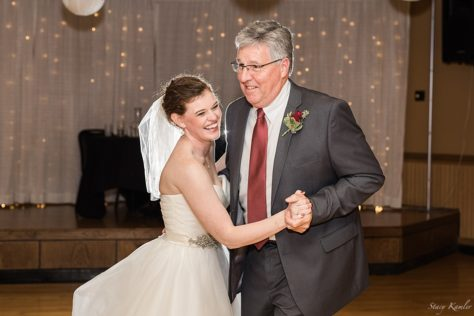 Father daughter dance at Balz reception venue