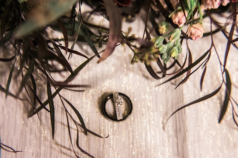 Ring shot with flowers