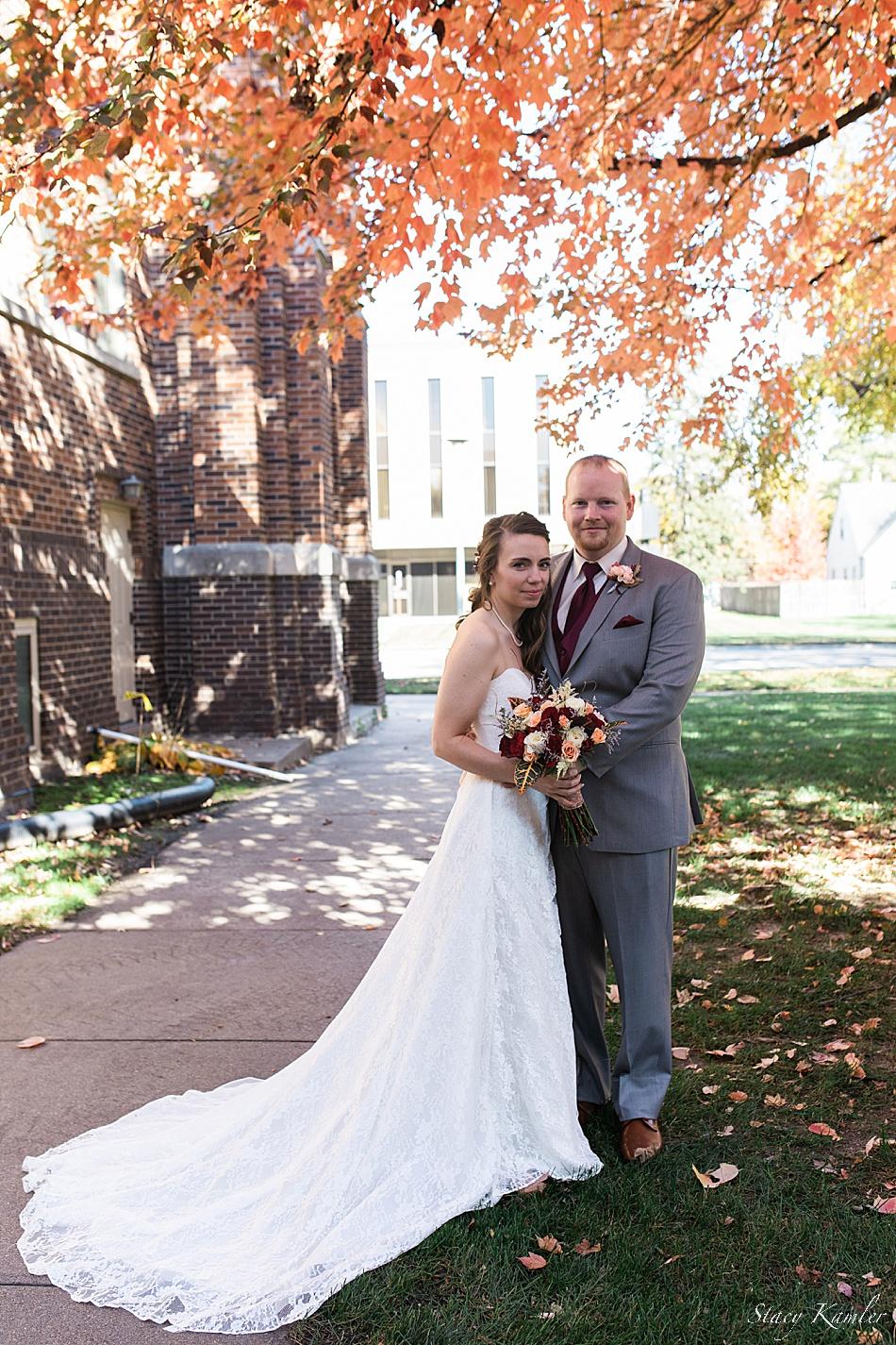 Nebraska Wedding Photographer in the Fall