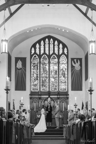 Black and White ceremony photo