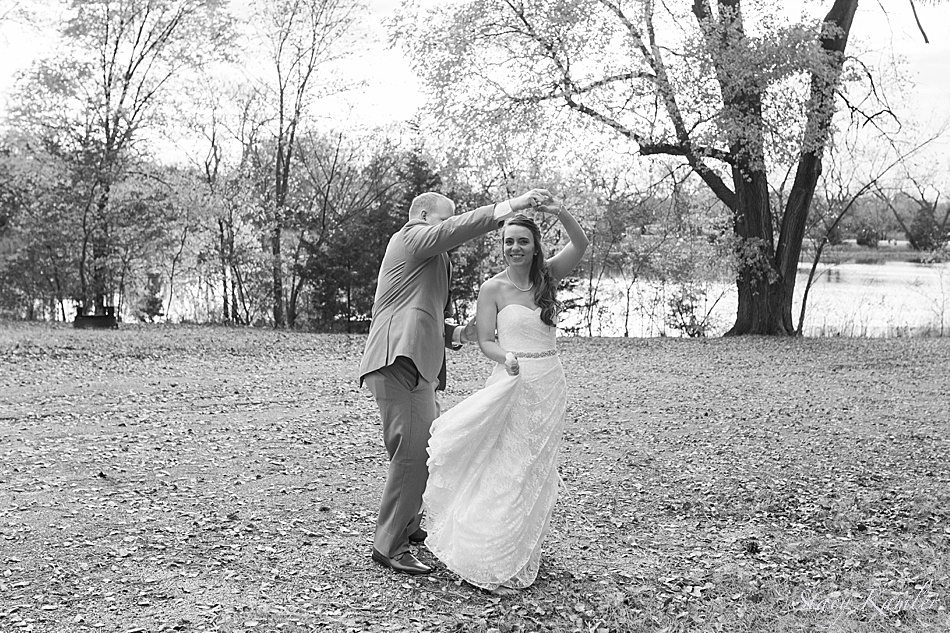 Bride and Groom Dancing at Fremont Lakes