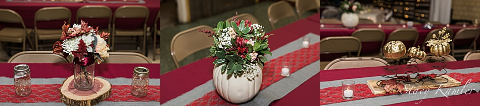 Centerpieces at Eagle Club Ballroom in Fremont, NE
