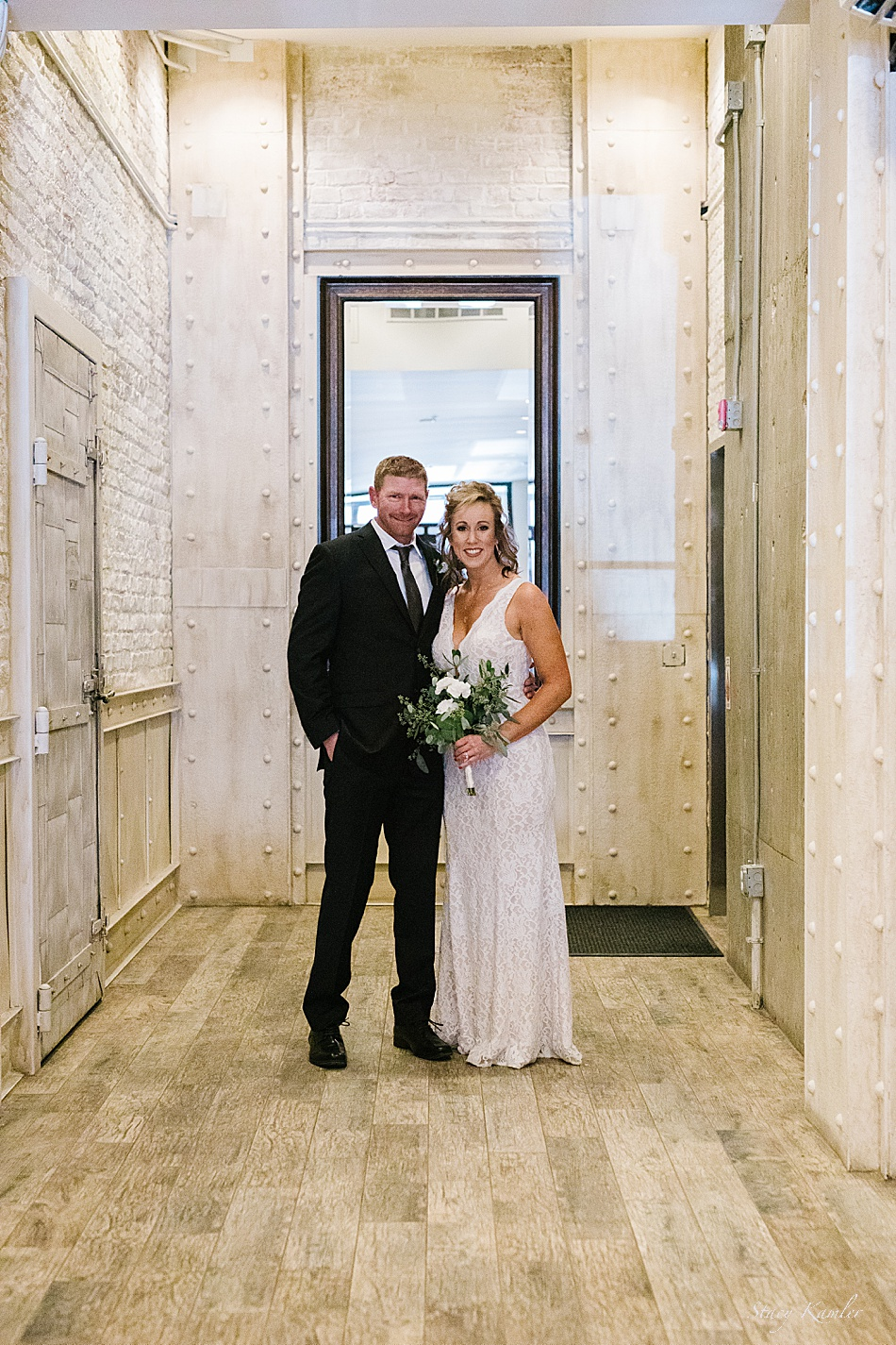 Wedding Photos in an old downtown building, Lincoln NE