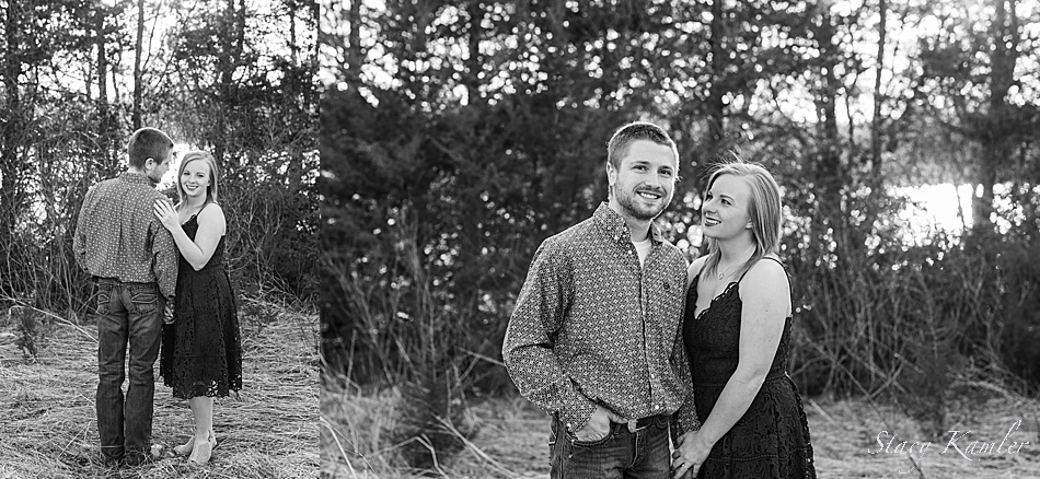 Outdoor engagement session by wilbur, NE