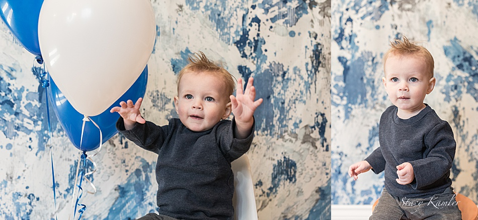One year old Boy in Studio