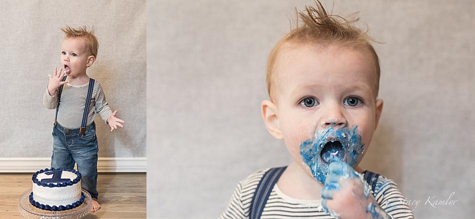 Mohawk on one year old boy