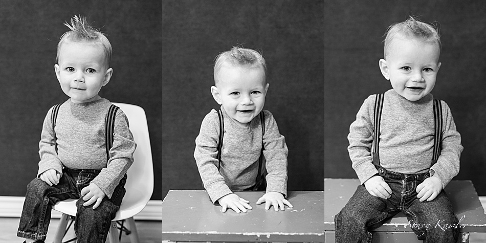 Boy in suspenders for one year old photos