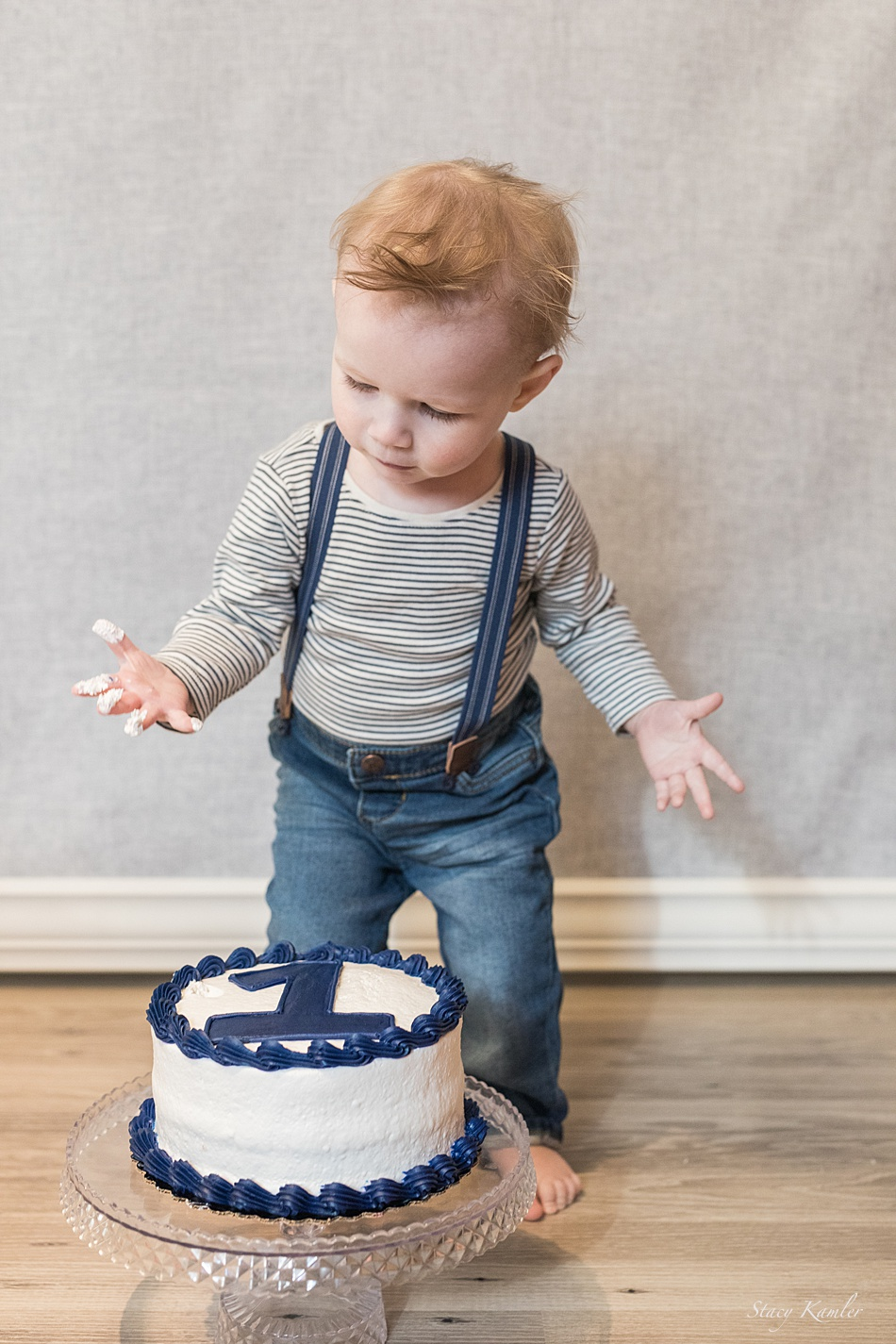 Cake smash for one year old
