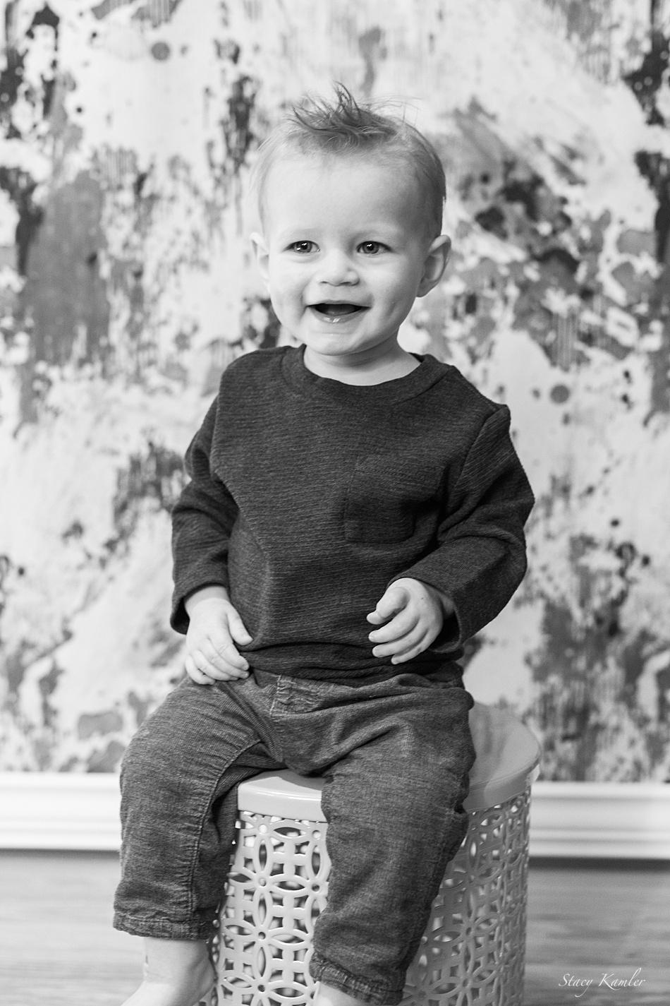 All smiles for little boy