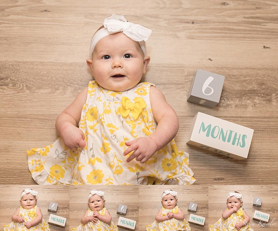 6 month summer photos of little girl
