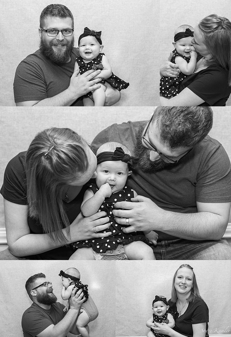 Family photos in the studio