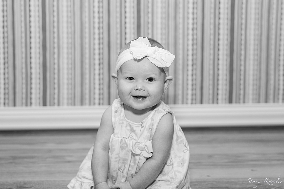Black and White photos of 6 month old