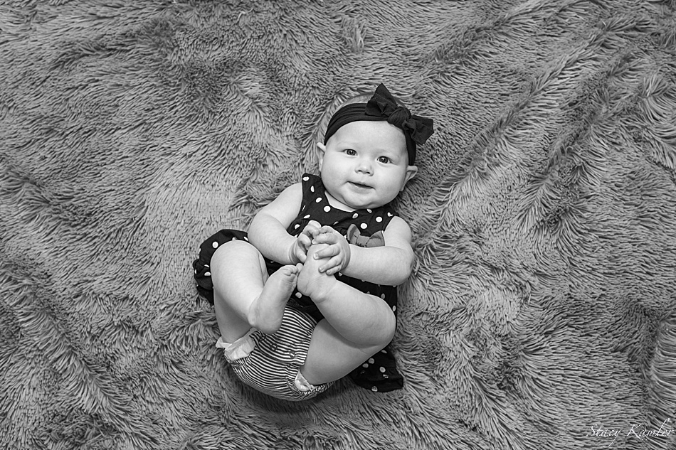 Black and white 6 month old