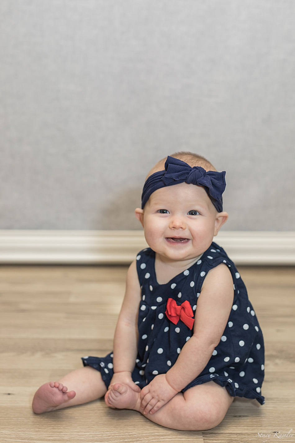 Happy 6 month old at the studio