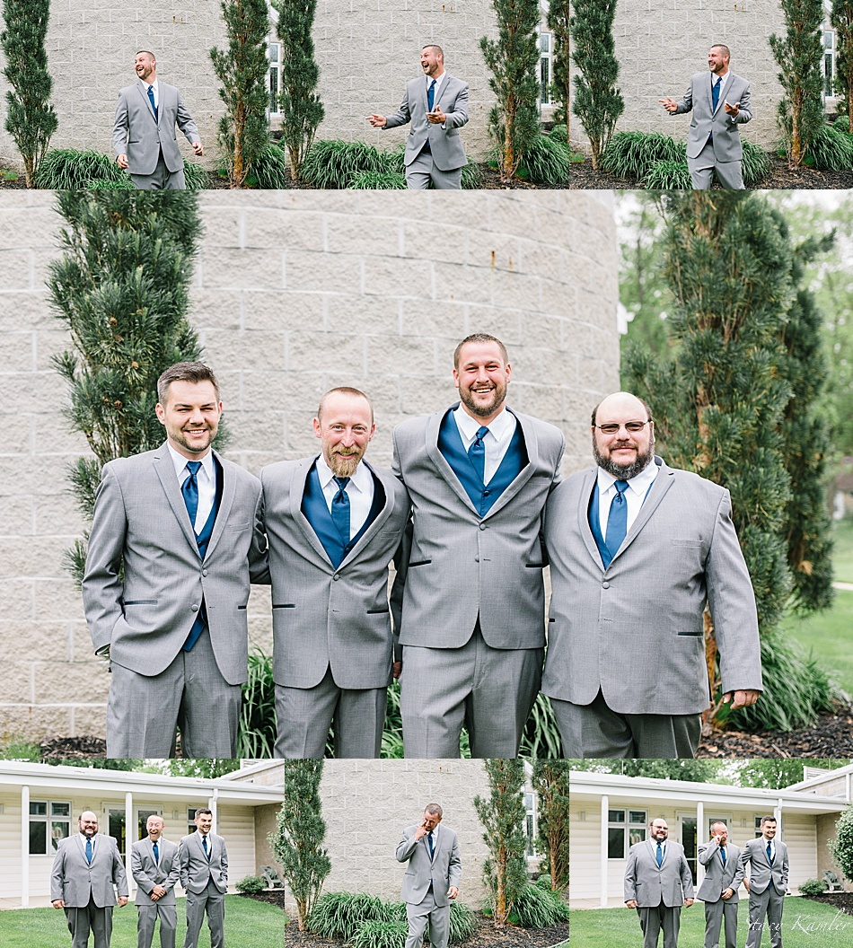 First Look with the Groomsmen