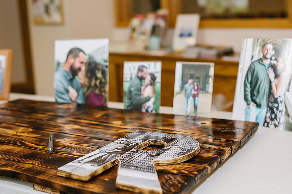 Guest Book table at the Wedding Ceremony